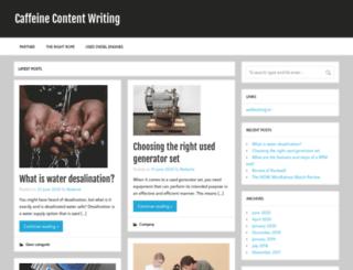 caffeine-content-writing.com screenshot