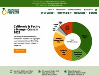 cafoodbanks.org screenshot