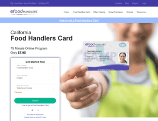 cafoodhandllers.com screenshot