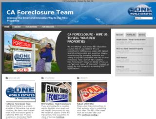 caforeclosureteam.com screenshot