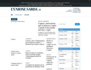 cagliari.unionesarda.it screenshot