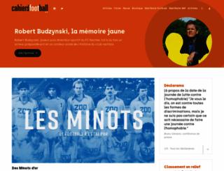 cahiersdufootball.net screenshot