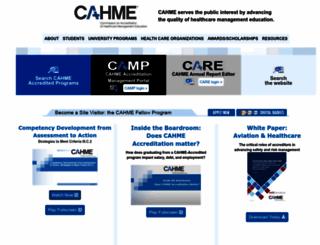 cahme.org screenshot