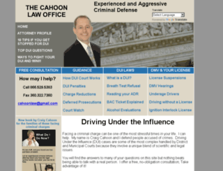 cahoonlawoffice.com screenshot