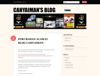 cahyaiman.wordpress.com screenshot