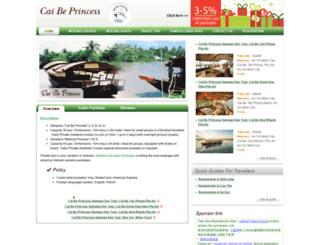 caibeprincessmekong.com screenshot