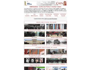 cain.ulst.ac.uk screenshot