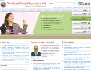 cainindia.icai.org screenshot