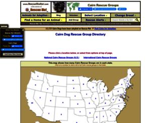 cairn.rescueshelter.com screenshot