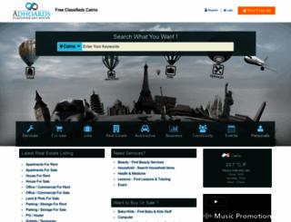 cairns.adhoards.com screenshot