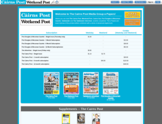 cairnspost.newspaperdirect.com screenshot