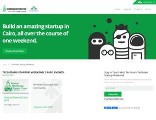 cairo.startupweekend.org screenshot