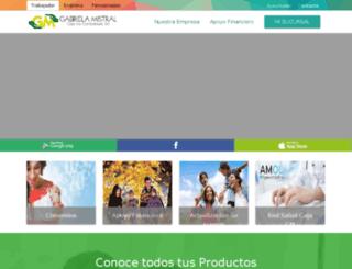 cajagabrielamistral.cl screenshot