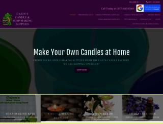 cajuncandles.com screenshot