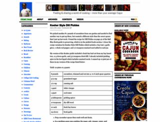 cajunchefryan.rymocs.com screenshot