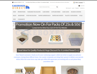 cakeboxesdirect.com screenshot