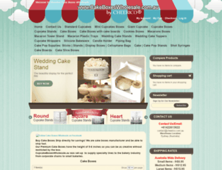 cakeboxeswholesale.com.au screenshot