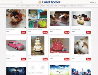 cakechooser.com screenshot
