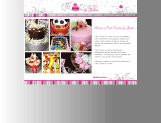 cakecouturebyjustine.co.za screenshot