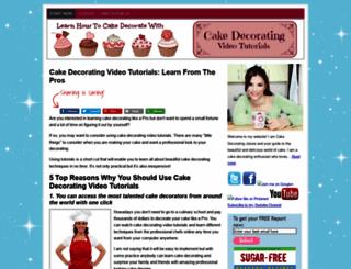 cakedecoratingvideotutorials.com screenshot