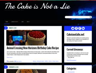 cakeisnotalie.net screenshot