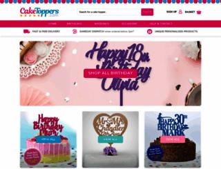 caketoppers.com screenshot