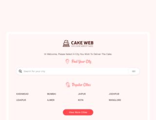 cakeweb.in screenshot