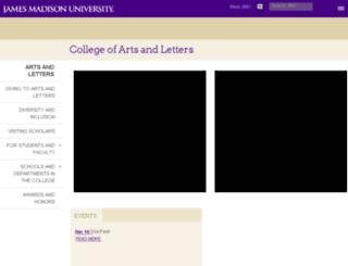 cal.jmu.edu screenshot