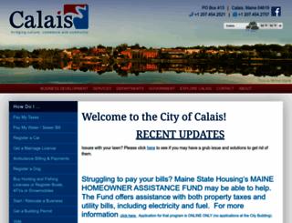 calaismaine.org screenshot