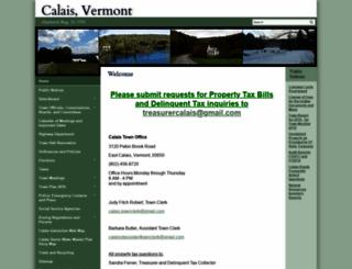 calaisvermont.gov screenshot