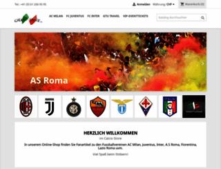 calcio-store.ch screenshot