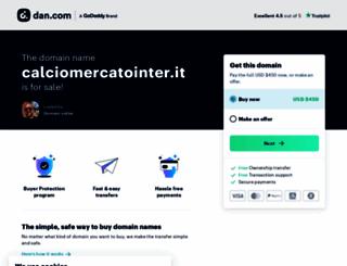 calciomercatointer.it screenshot