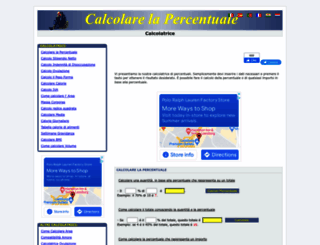 calcolarelapercentuale.it screenshot