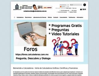 calculadoras.com.mx screenshot