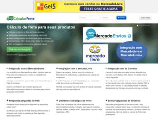 calcularfrete.com.br screenshot