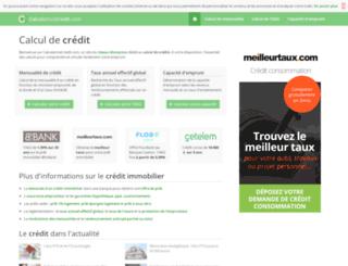 calculatricecredit.com screenshot