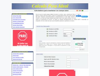 calculopesoideal.com screenshot