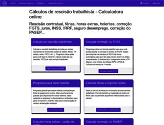 calculorescisao.com.br screenshot
