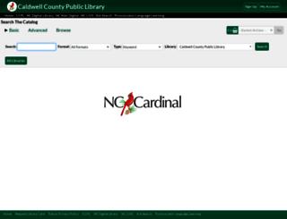 caldwell.nccardinal.org screenshot
