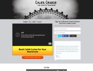 calebcruise.com screenshot