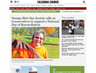 caledoniacourier.com screenshot