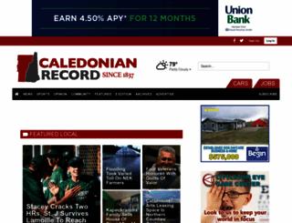 caledonianrecord.com screenshot