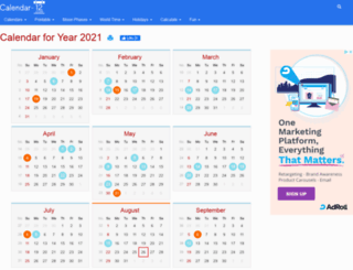 calendar-12.com screenshot