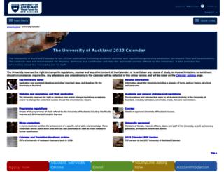 calendar.auckland.ac.nz screenshot