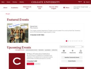 calendar.colgate.edu screenshot