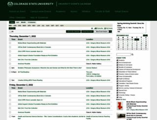 calendar.colostate.edu screenshot