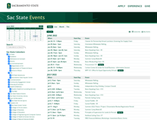 calendar.csus.edu screenshot