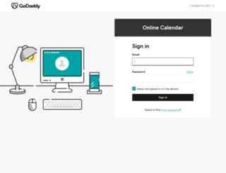 calendar.godaddy.com screenshot