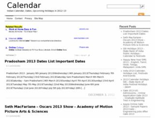 calendar.ind.in screenshot