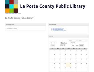 calendar.laportelibrary.org screenshot